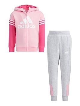 adidas-kids-unisex-lk-badge-of-sport-fleece-set-pinkgrey