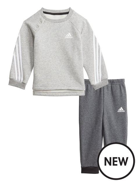 adidas-adidas-infant-unisex-3-stripe-crew-jog-pant-set