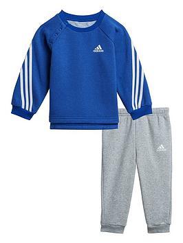 adidas-infant-unisex-3-stripe-crew-amp-jog-pant-set--nbspbluegrey