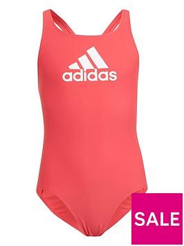 adidas-kids-girlsnbspbadge-of-sport-swimsuit-pinkwhite