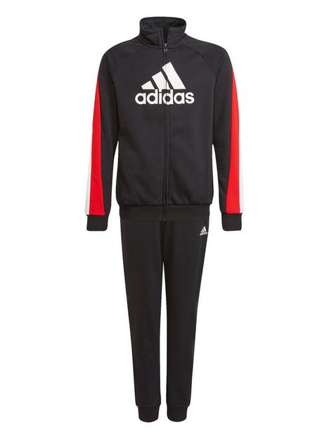 adidas-junior-boys-badge-of-sport-cotton-tracksuit-redwhite