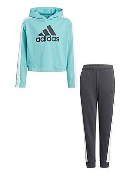 adidas-junior-girls-hooded-crop-tracksuit-blueblack