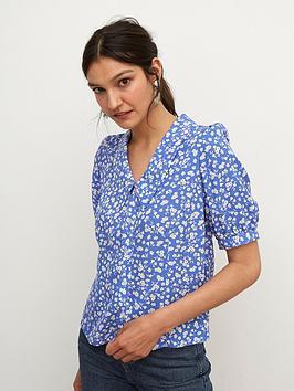 nobodys-child-sarah-floral-blouse-blue