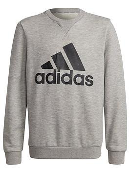 adidas-junior-boys-sweat-top-greyblack