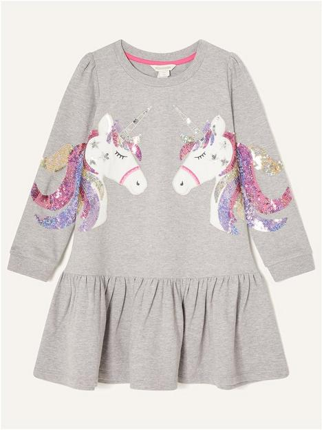 monsoon-girls-double-unicorn-sleeve-sweat-dress-grey