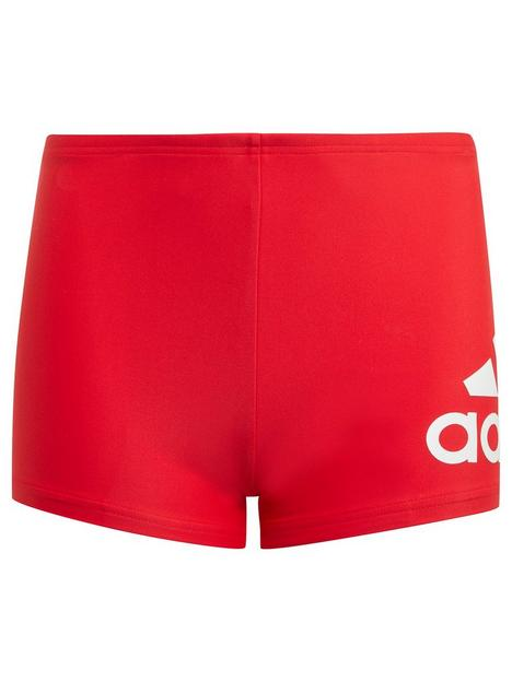 adidas-boysnbspbadge-of-sportnbspswim-brief-red-white