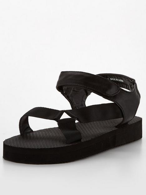 public-desire-threat-sandals-black