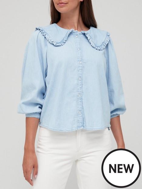 levis-mimmi-collar-denim-blouse-blue