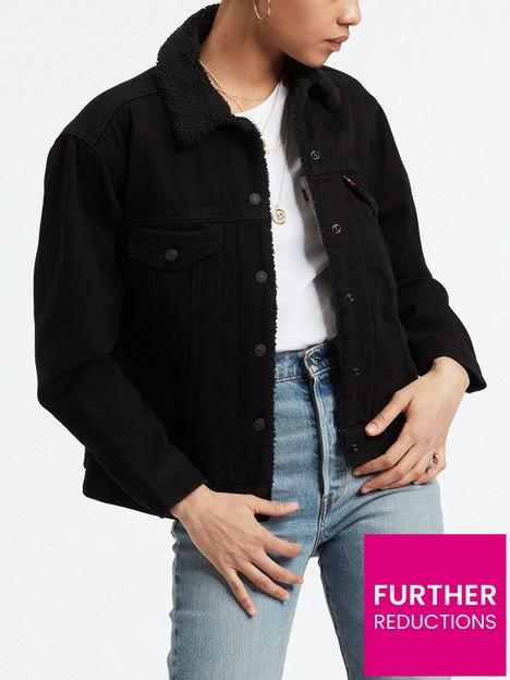 levis-ex-boyfriend-sherpa-denim-trucker-jacket-black
