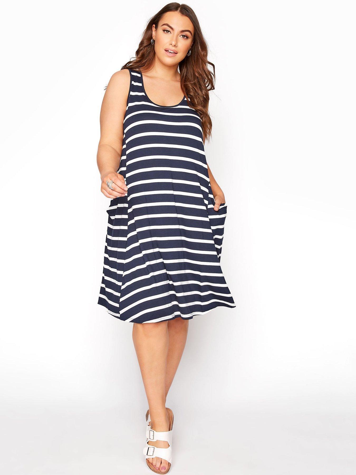 Details about  /Fluid Summer Rib Dress /'Hot Pink/' Cotton Size 8