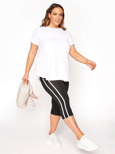 yours-yours-side-stripe-crop-legging-black