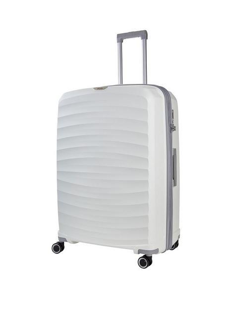 rock-luggage-sunwave-8-wheel-suitcase-large-white