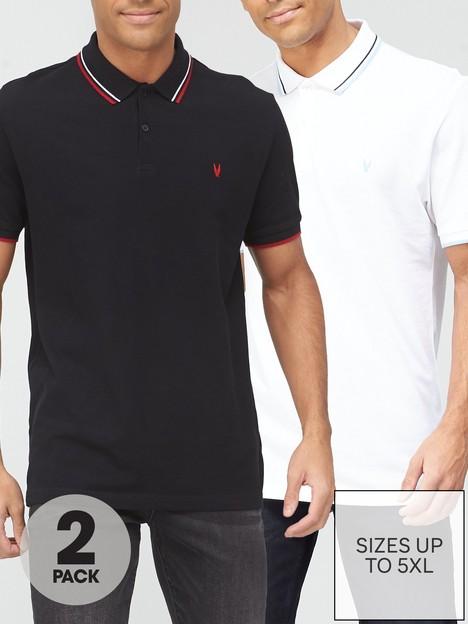 very-man-2-pack-essential-polo-black-white