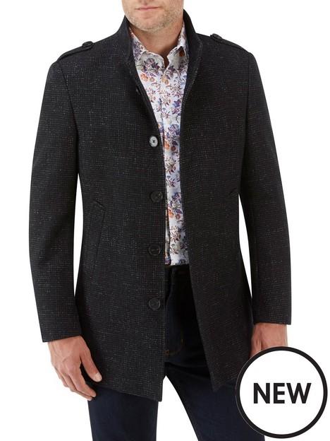 skopes-newington-single-breasted-military-coat-black