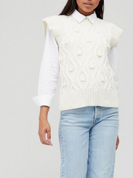 v-by-very-knitted-sleeveless-frill-tabard-vest-ivory