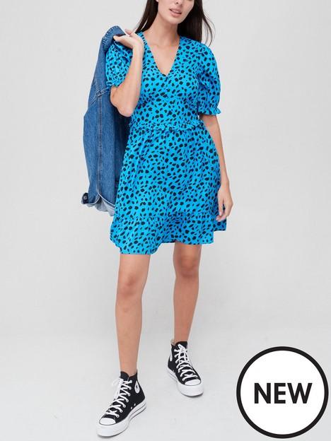 new-look-puff-sleeve-ruffle-mini-dress-printnbsp