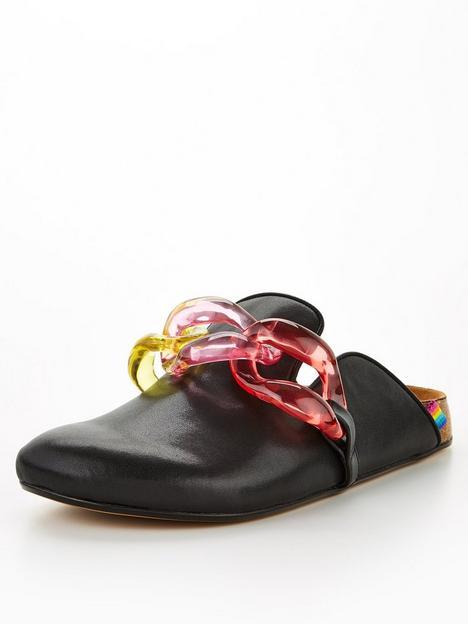 kurt-geiger-london-ozark-chain-flat-shoe-black