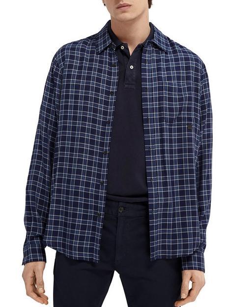 scotch-soda-tencel-check-shirt