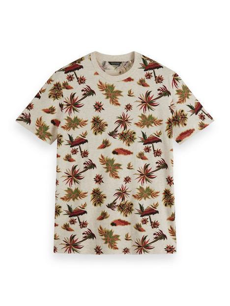 scotch-soda-leaf-print-t-shirt