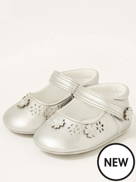 monsoon-baby-girls-3d-flower-shimmer-booties-silver