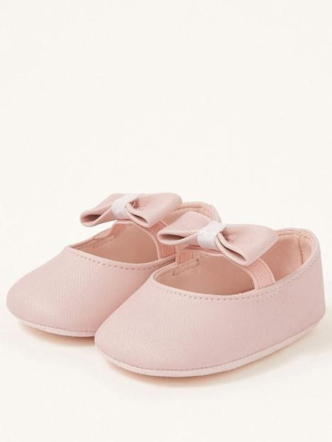 monsoon-baby-girls-shimmer-bow-booties-pink