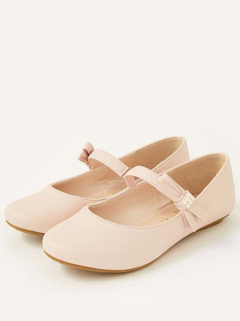 monsoon-girls-shimmer-pearl-side-bow-ballerina-shoes-pink