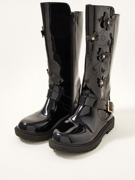 monsoon-girls-flutter-butterfly-riding-boots-black