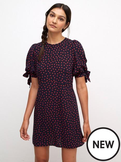 nobodys-child-esme-mini-dress-navy