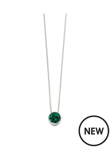 the-love-silver-collection-sterling-silver-emerald-stone-necklace