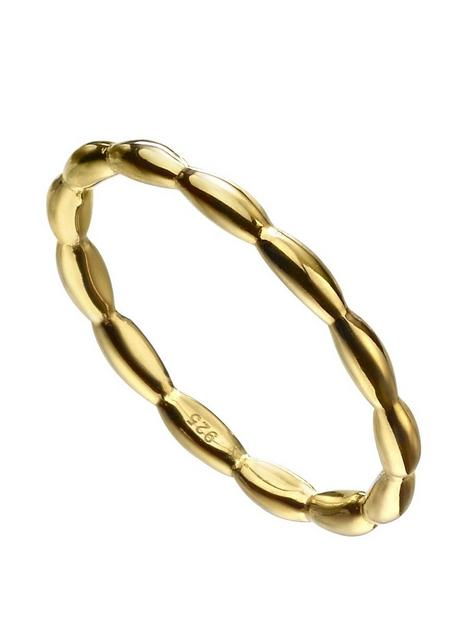 the-love-silver-collection-gold-plated-sterling-silver-stacker-ring