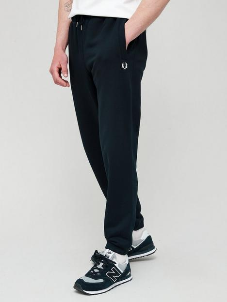 fred-perry-loopback-joggers-black
