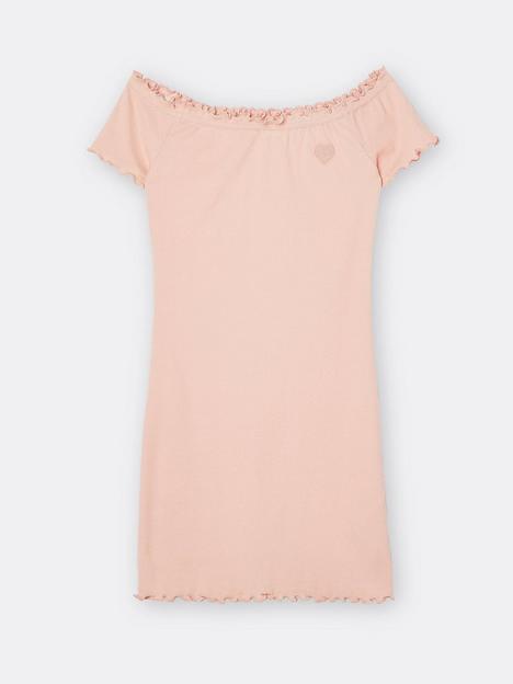river-island-girls-bardot-mini-dress-orange