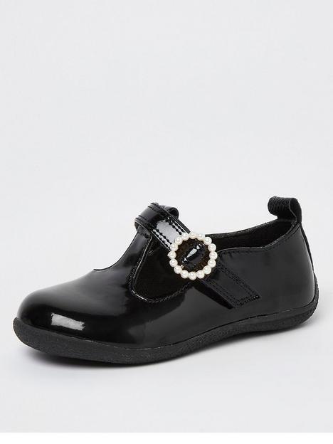 river-island-mini-mini-girls-pearl-buckle-school-shoe-black