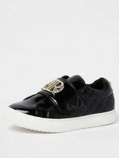 river-island-girls-cquilted-pu-trainers-black