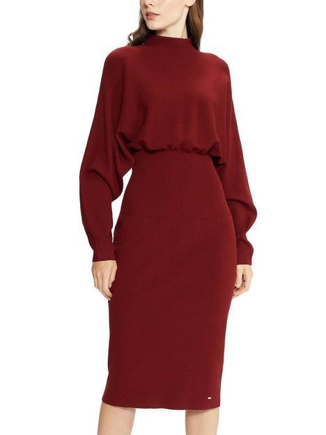 ted-baker-alice-cocoon-midi-dress-burgundy