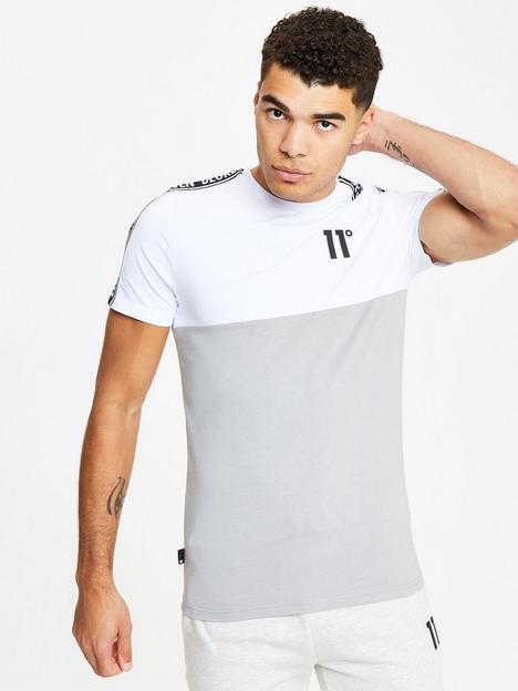 11-degrees-colour-block-taped-t-shirt