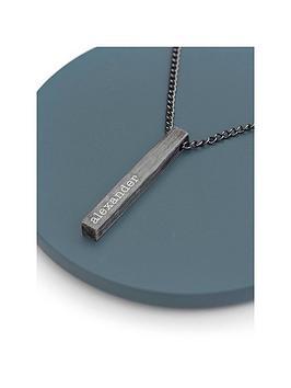 treat-republic-treat-republic-personalised-mens-solid-bar-necklace-brushed-gunmetal-serif