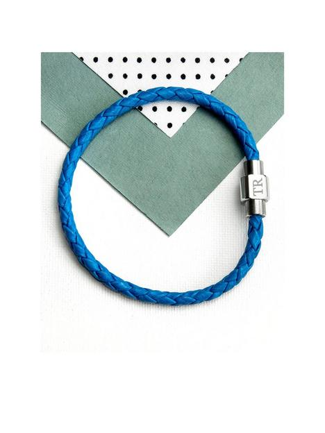 treat-republic-treat-republic-personalised-mens-woven-leather-bracelet-in-cobalt-blue