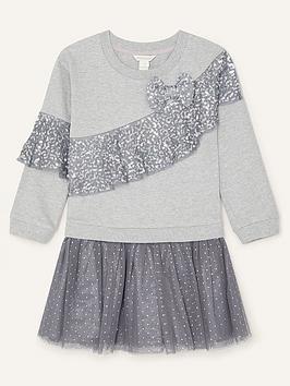 monsoon-girls-disco-sequin-ruffle-sweat-dress-grey