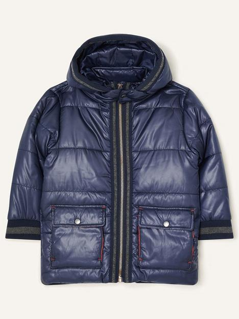 monsoon-boys-jersey-trim-padded-coat-navy