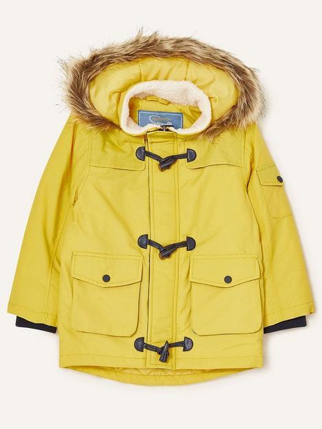 monsoon-boys-duffle-trim-parka-coat-with-hood-mustard