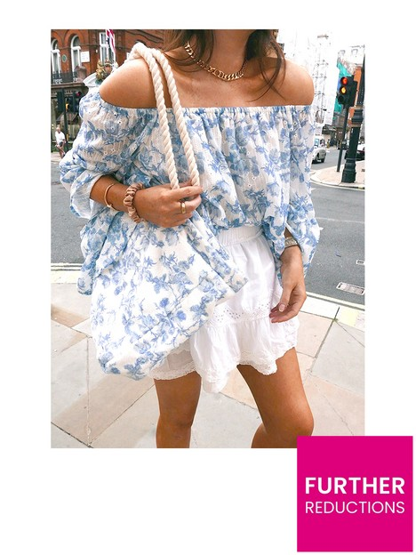 in-the-style-in-the-style-lorna-luxe-blue-floral-terry-beach-bag
