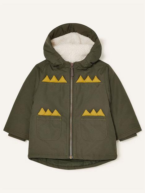 monsoon-boys-dino-novelty-coat-khaki