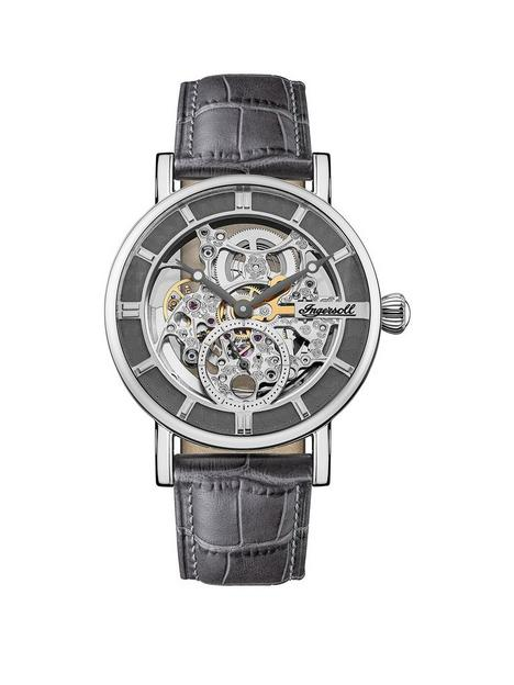 ingersoll-ingersoll-the-herald-silver-and-grey-detail-skeleton-automatic-dial-grey-leather-strap-mens-watch