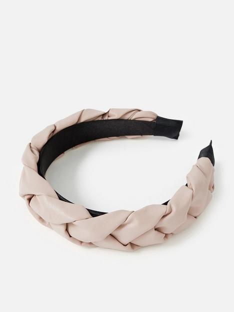 accessorize-nude-pu-plait-alice-band