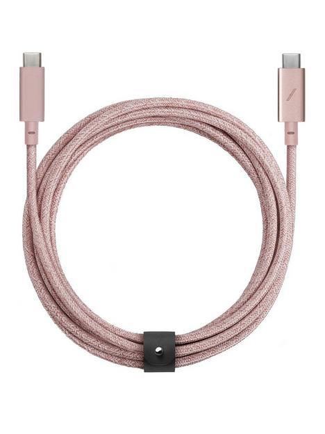 native-union-belt-cable-pro-usb-c-to-usb-c-rose-24m
