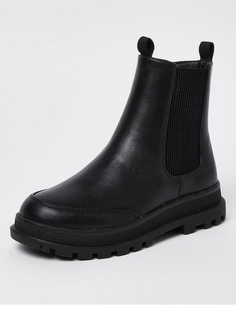 river-island-girls-chunky-cleated-ankle-boot-black