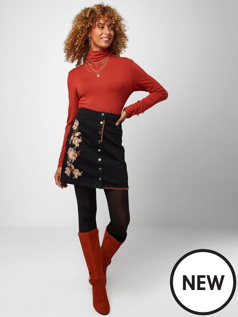 joe-browns-joes-embroidered-skirtnbsp-nbspblack