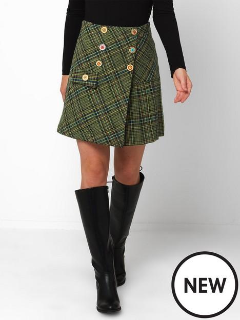 joe-browns-joe-browns-joes-new-favourite-check-skirt-green