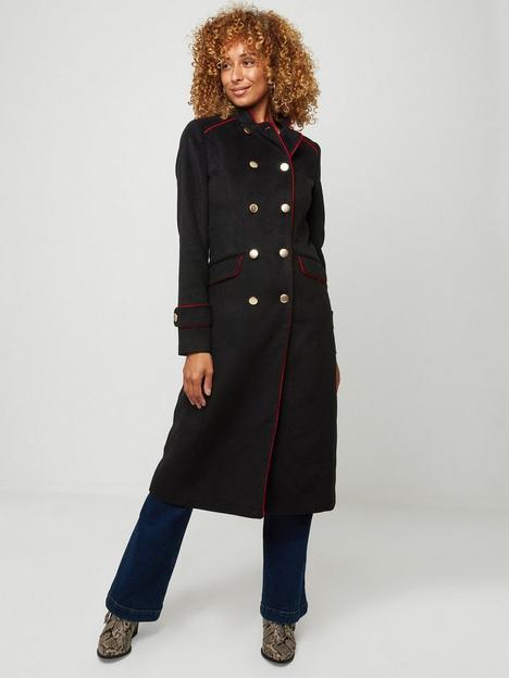 joe-browns-military-must-have-longline-coat-black